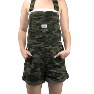 Levi's Camo Overall Shorts NWT (XS)